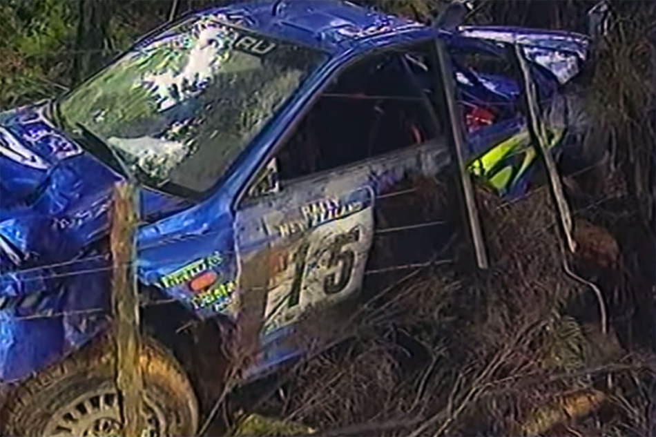 разбитая Subaru Impreza S5 WRC`97 Шасси №98.031
