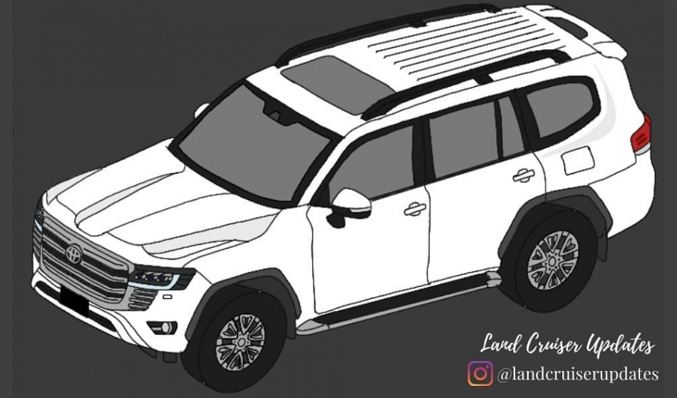 Новый Toyota Land Cruiser 300 полностью раскрыт на зарисовках