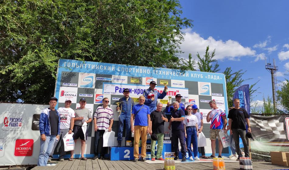 победители соревнования по ралли-кроссу «Тольятти» на автодроме КВЦ