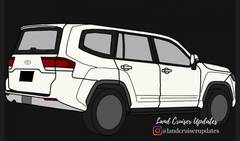 схематичное изображение Toyota Land Cruiser 300