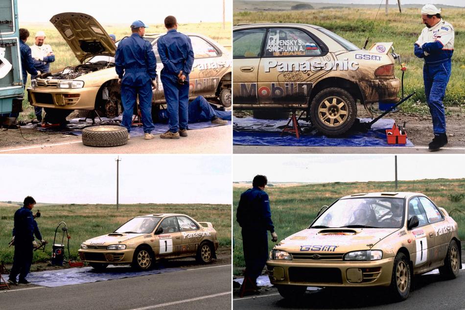 А-групповая Subaru Impreza 555 Сергея Успенского на ремонте