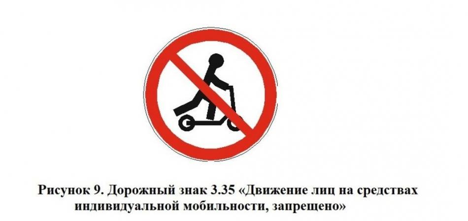 движение на самокатах запрещено