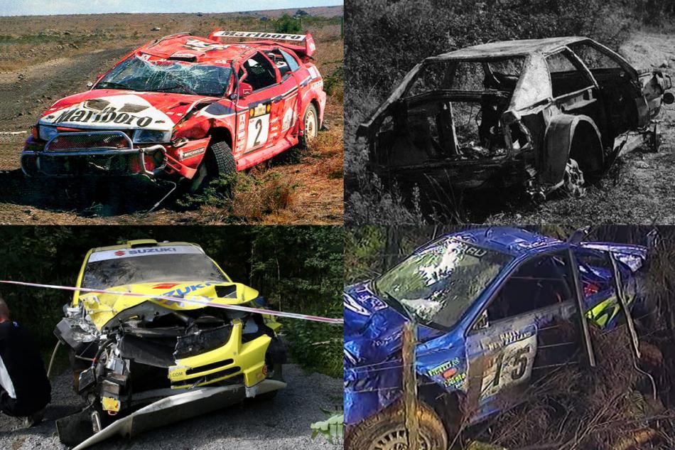 Уничтоженные различные автомобили