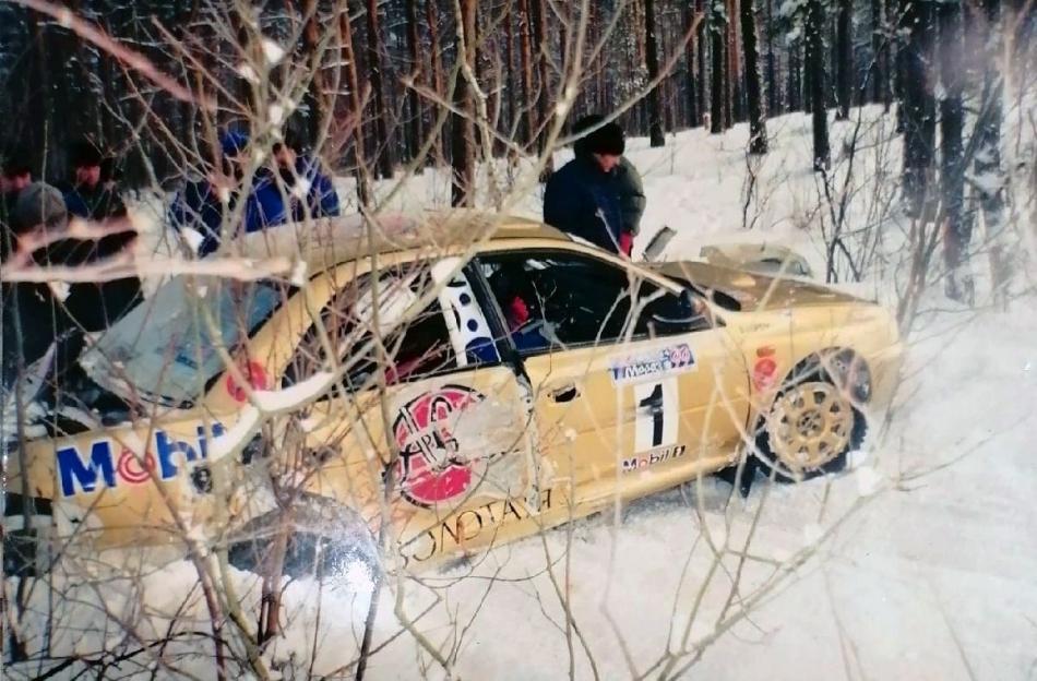 авария А-групповой Subaru Impreza 555 Сергея Успенского
