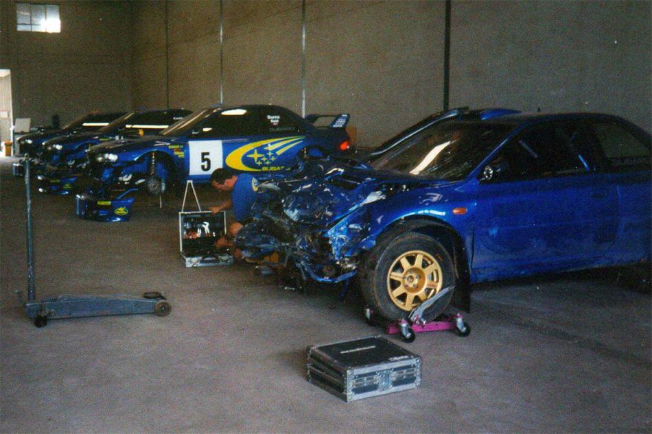 Subaru Impreza WRC после аварии