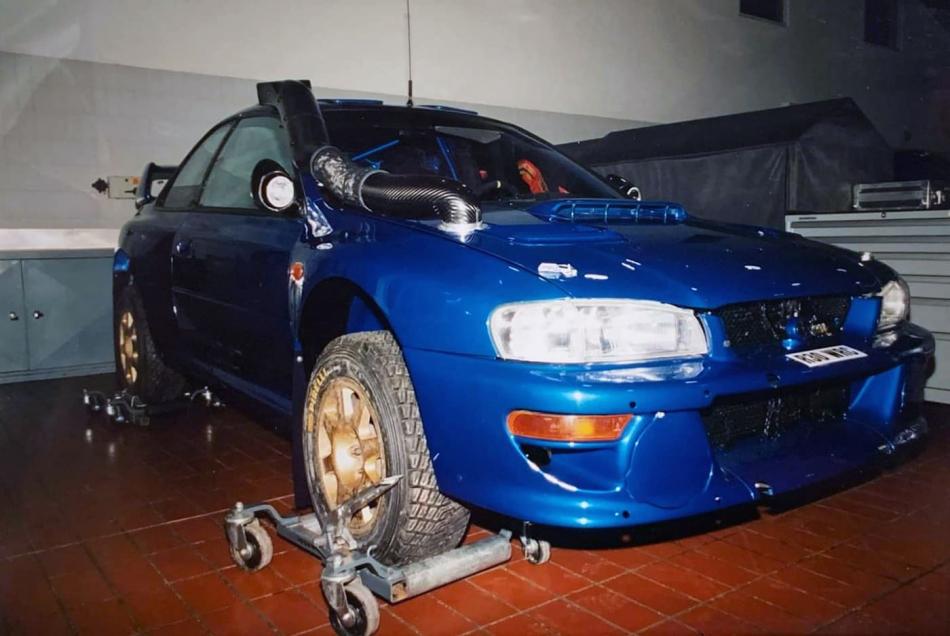"лукойловская Subaru Impreza WRC для ралли ""Сафари"""