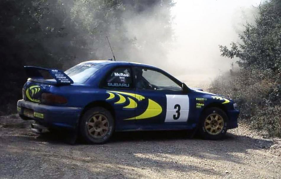Subaru Impreza WRC с номером шасси 97.004 в Испании на тестах в августе 1997 года