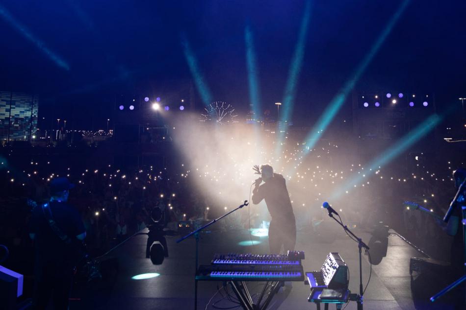 Концерт в Олимпийском парке Сочи в дни Гран-при России Формулы-1