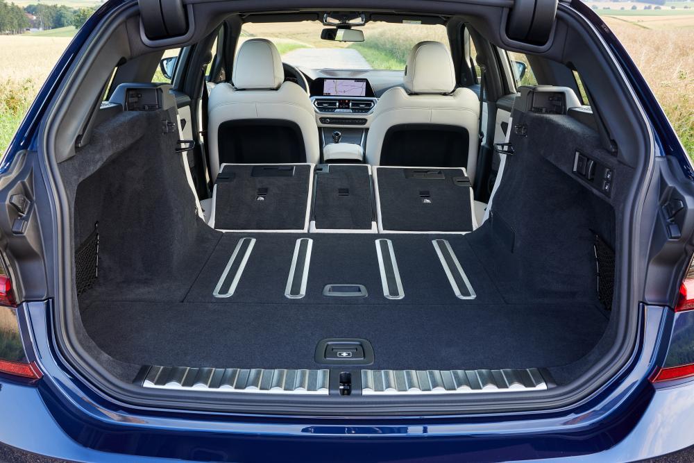 BMW 3 серия 7 поколение G20 (2019) Универсал 5 дв. интерьер багажник