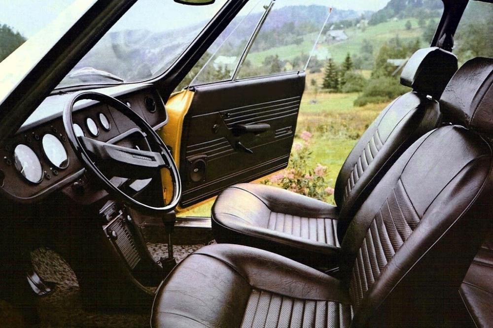Skoda 110 R 1 поколение (1970-1980) Купе интерьер