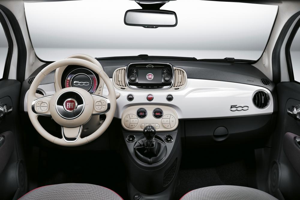 Fiat 500 2 поколение [рестайлинг] (2016) Хетчбэк интерьер