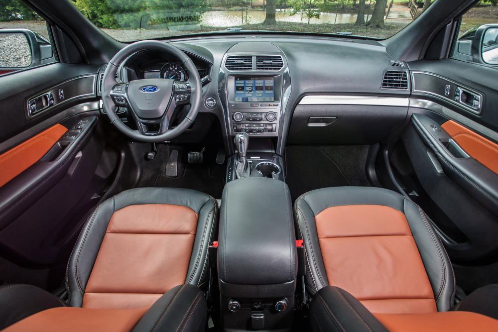 Ford Explorer 5 поколение 2-й рестайлинг интерьер