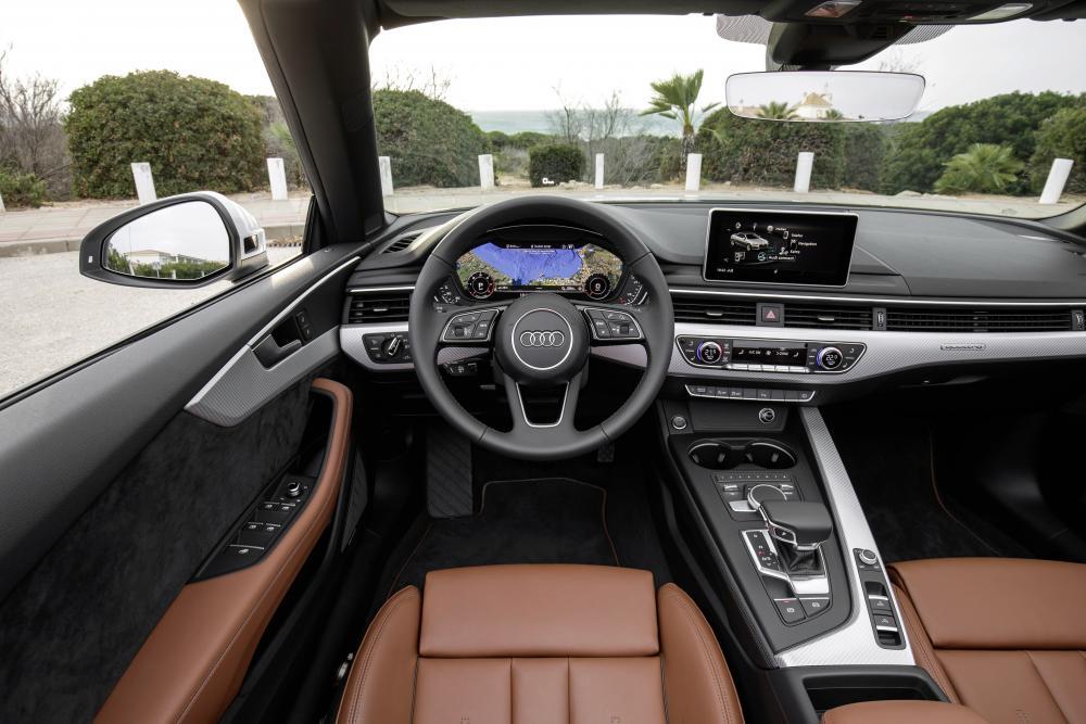 Audi A5 2 поколение (2016-2018) Кабриолет интерьер