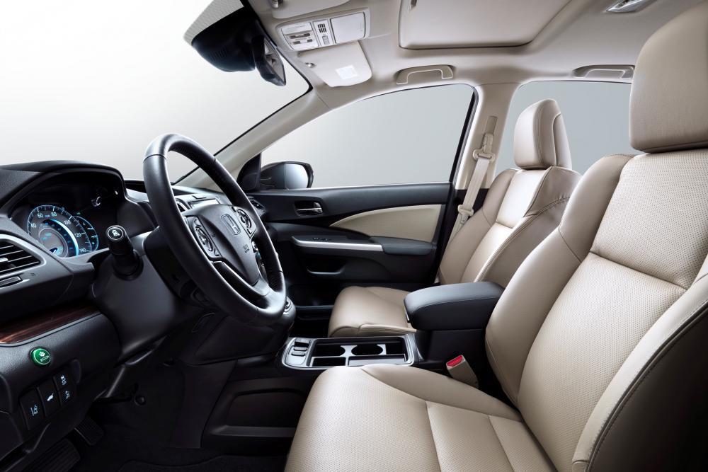 Honda CR-V 4 поколение рестайлинг интерьер