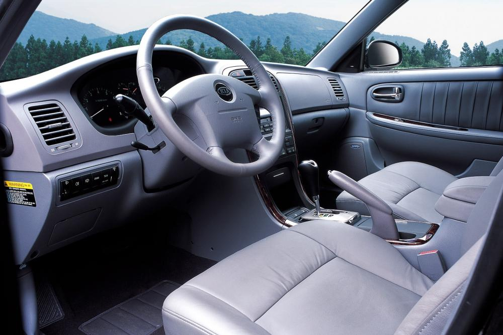Kia Magentis 1 поколение рестайлинг (2003-2006) Седан интерьер