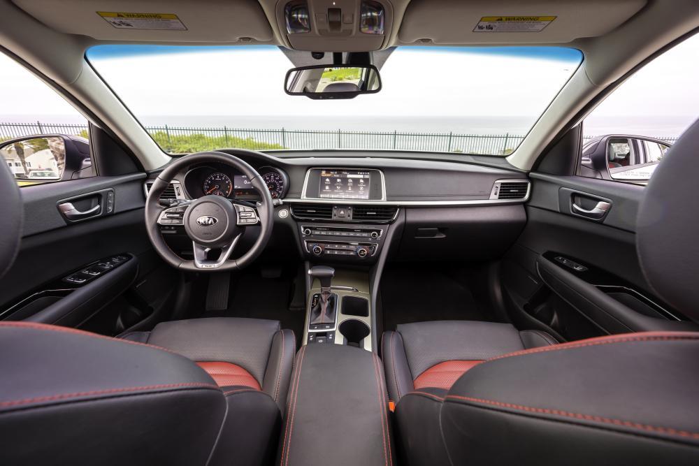 Kia Optima 4 поколение рестайлинг Седан интерьер
