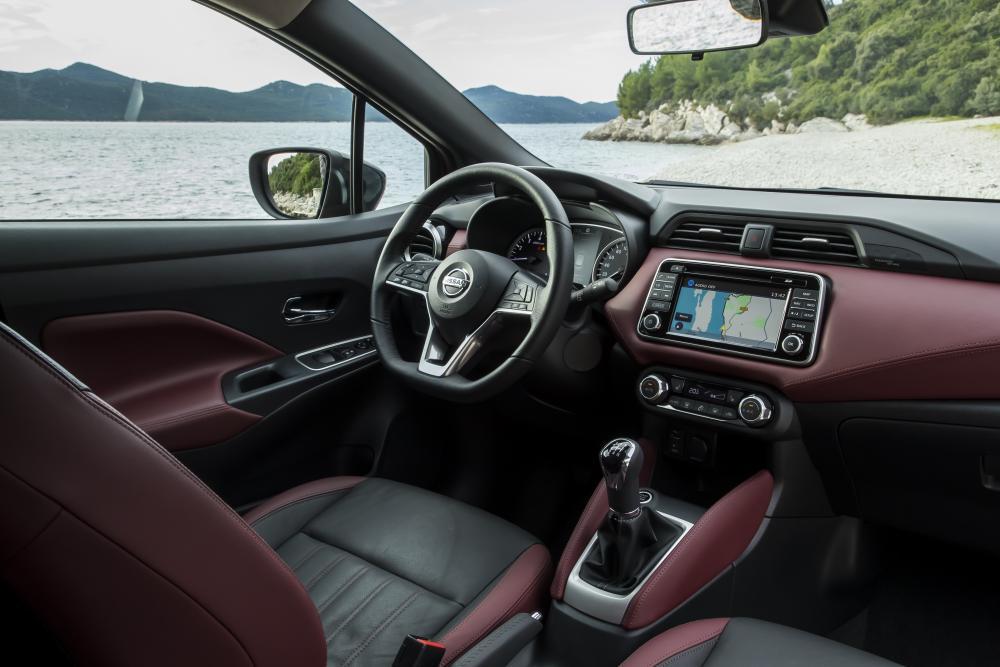 Nissan Micra 5 поколение K14 (2017) Хетчбэк интерьер