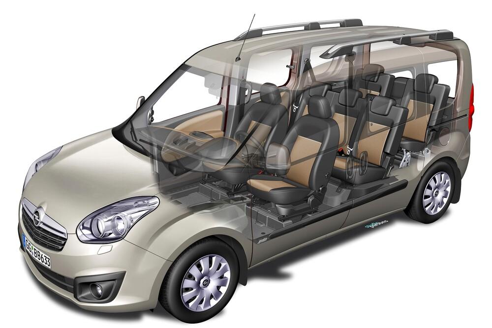 Opel Combo 3 поколение D (2011-2018) Tour минивэн рентген