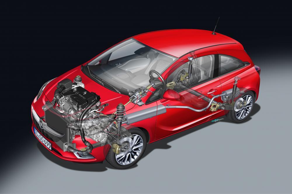 Opel Corsa 5 поколение E (2014-2019) Хетчбэк 3-дв. рентген