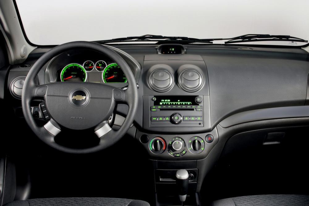 Chevrolet Aveo T250 рестайлинг (2006-2012) Хетчбэк 5-дв. интерьер