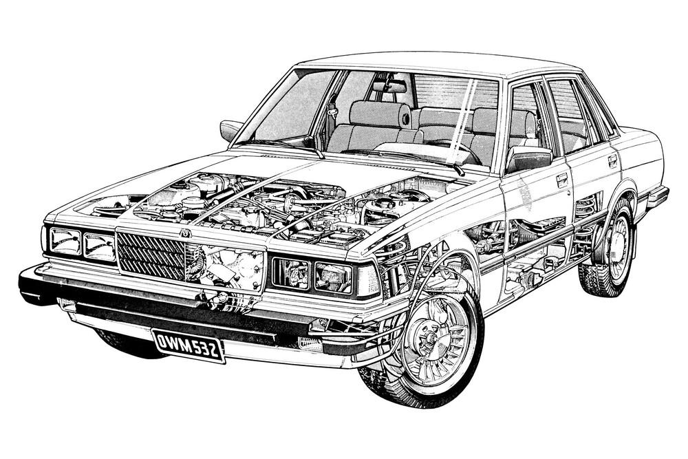 Toyota Cressida 2 поколение X60 (1980-1983) US-Spec. седан 4-дв. рентген