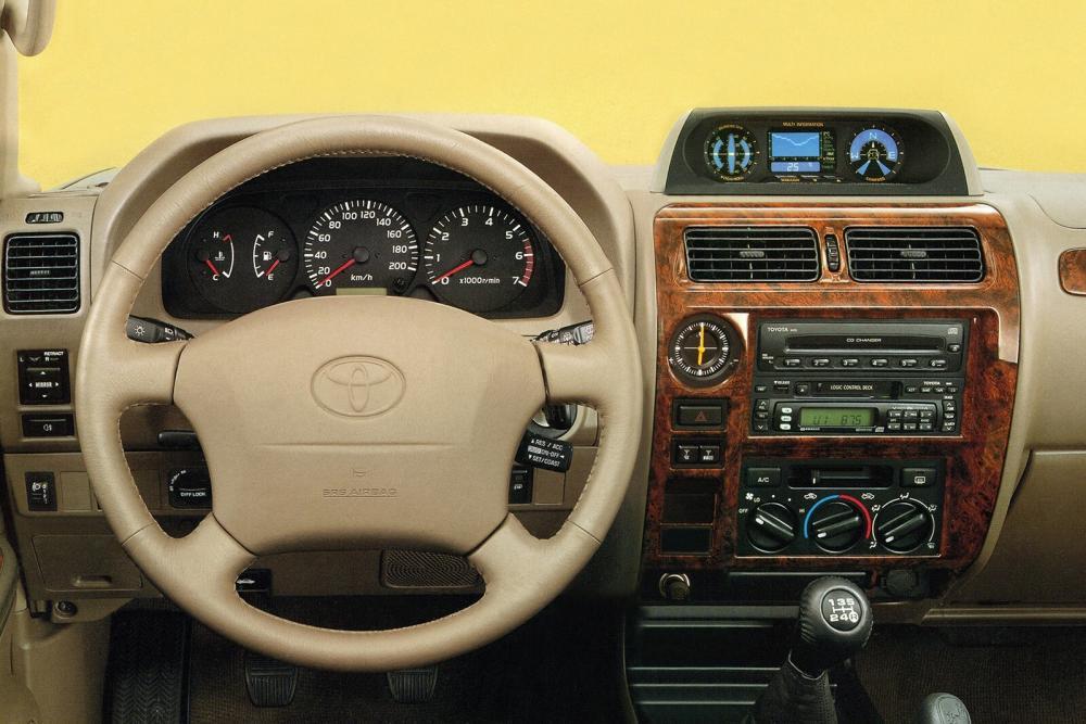 Toyota Land Cruiser Prado J90 [рестайлинг] (1999-2002) Внедорожник 3-дв. интерьер