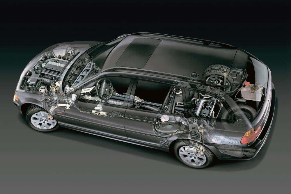 BMW 3 серия 4 поколение E46 (1998-2001) Touring универсал рентген