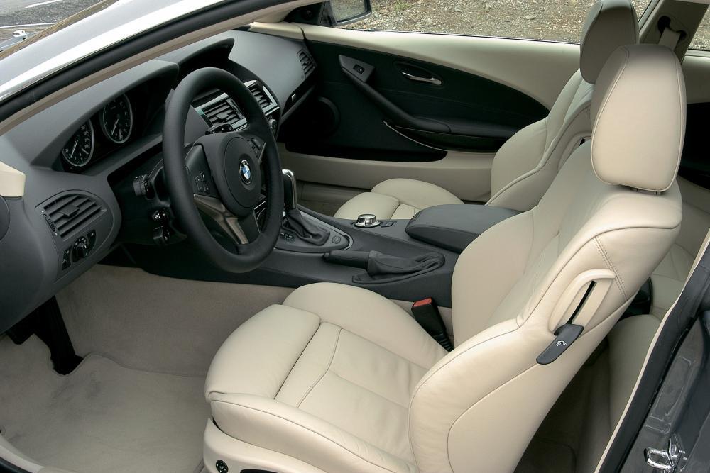 BMW 6 серия 2 поколение E63 (2003-2007) Купе интерьер