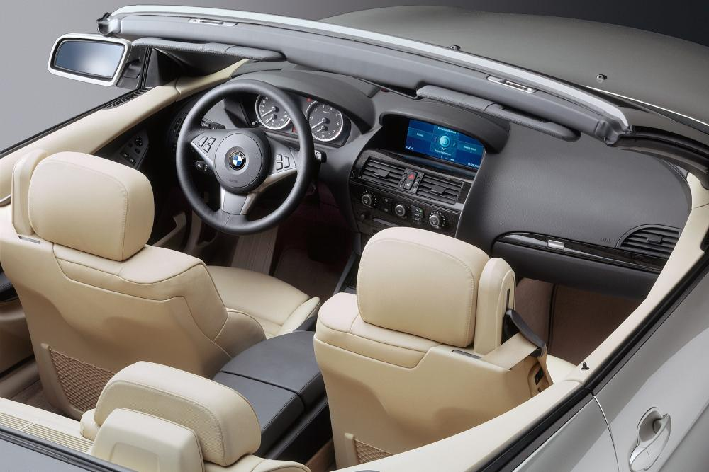 BMW 6 серия 2 поколение E64 (2004-2007) Кабриолет интерьер