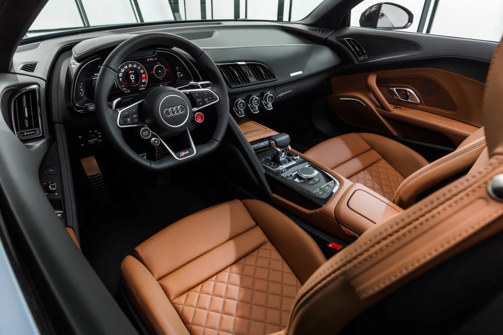 Audi R8 2 поколение [рестайлинг] (2019) Spyder родстер интерьер
